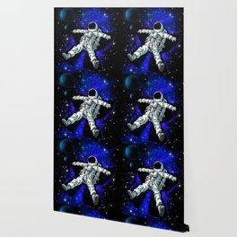 Astronaut Playing in Galaxy like Snow  Wallpaper