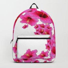 MODERN ART TROPICAL FUCHSIA HIBISCUS  FLOWERS Backpack