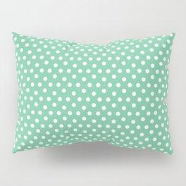 Green white modern geometrical polka dots motif Pillow Sham