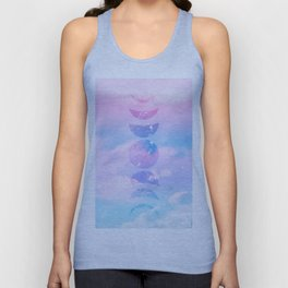 Unicorn Pastel Clouds Moon Phases #1 #decor #art #society6 Unisex Tank Top