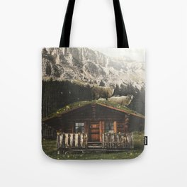 Sheep on the roof Tote Bag