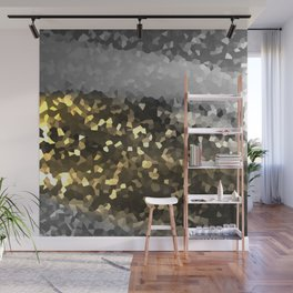 The Seamless Flow of Shapes Golden Silver Version Wall Mural