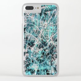 Triple X in Turquoise Clear iPhone Case