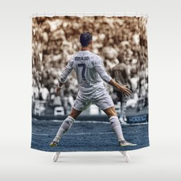 cr7 clebration Shower Curtain