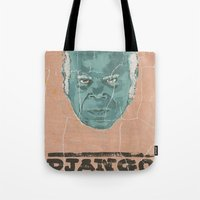 stephen king Tote Bags featuring stephen by kjell