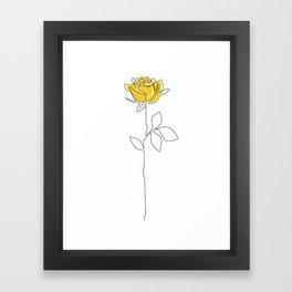 Lemon Rose Framed Art Print