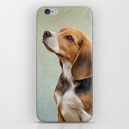 Drawing puppy Beagle iPhone Skin