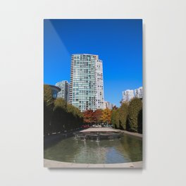 trees to breathe in the city Metal Print