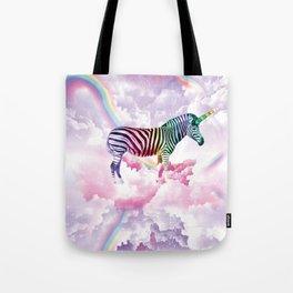 Rainbow Zebra Unicorn Tote Bag