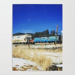 Blue Graffiti Poster