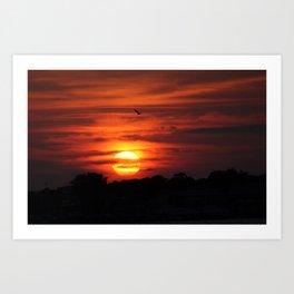 over the sun Art Print