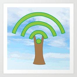 Tree of WiFi Art Print