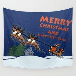Whim Santa Christmas Day Wall Tapestry