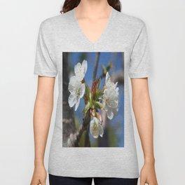 Cherry Blossom In Spring Sunlight Unisex V-Neck