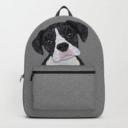 Black & White Boxer Backpack