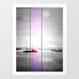 Boats: (Split Screen). Art Print