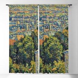 Classical Masterpiece 1900 'Paris - Montmartre' by Maximilien Luce Blackout Curtain