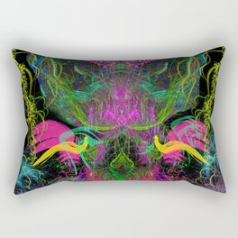 Crabgrass Entrancement (totem, psychedelic, visionary) Rectangular Pillow