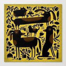 GARDEN DOGS Canvas Print