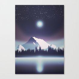 Lake at night Canvas Print