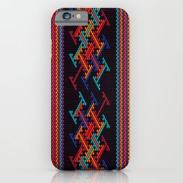 Latin American ethnic ornament, pattern, mosaic, embroidery. iPhone Case