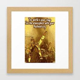 Poetry Post Card Framed Art Print
