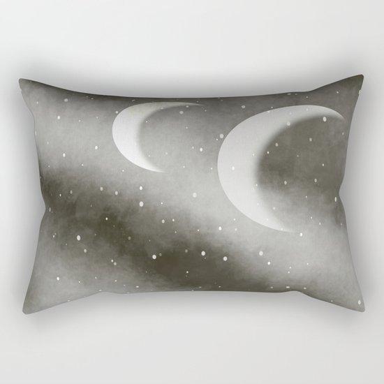 Worshipping the Moon Rectangular Pillow