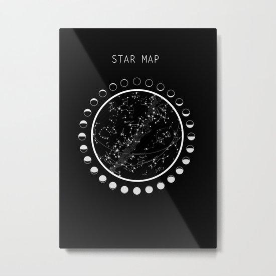 Vintage star map Metal Print