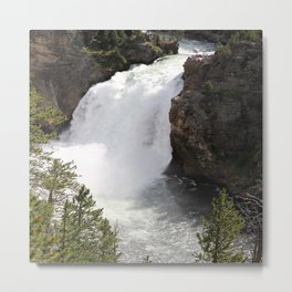 Grand Canyon Of The Yellowstone Lower Falls Metal Print