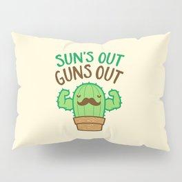 Sun's Out Guns Out Macho Cactus Pillow Sham