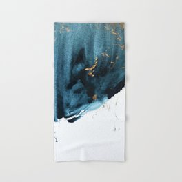 Sapphire and Gold Abstract Hand & Bath Towel