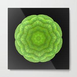 Abstract Green Metal Print