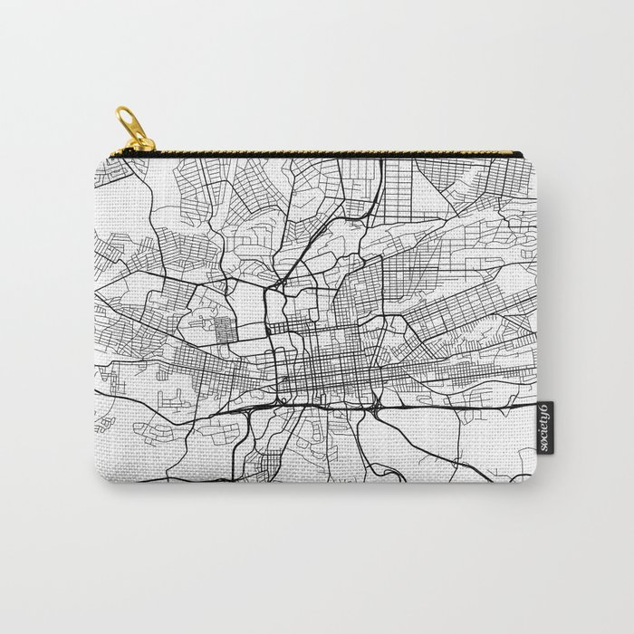 Map Of Africa Johannesburg.Johannesburg Map South Africa Black And White Carry All Pouch By Mainstreetmaps