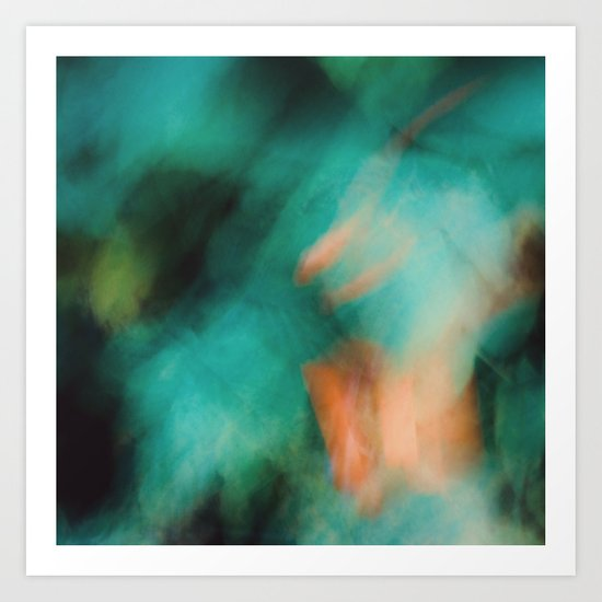 Green and Orange  Art Print