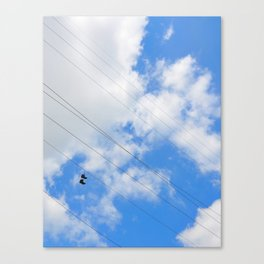 Shoes in the Sky Canvas Print