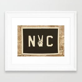 NYC Peace Sign (Color) Framed Art Print