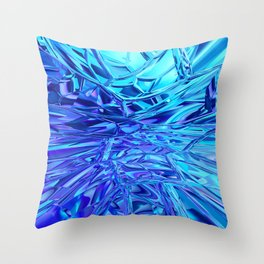 Abstract Crystals Throw Pillow