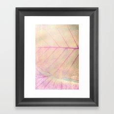 Pink Leaf Abstract Framed Art Print