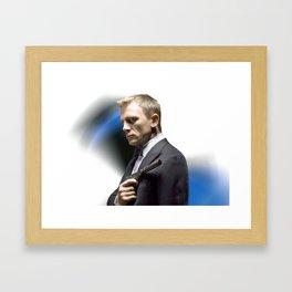 Daniel Craig as James Bond Framed Art Print