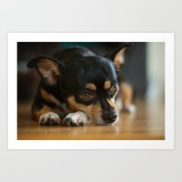 charlie Art Prints featuring Charlie by Leandro