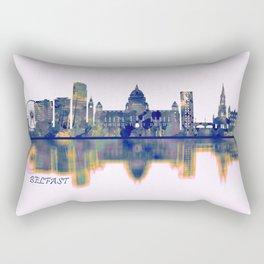 Belfast Skyline Rectangular Pillow