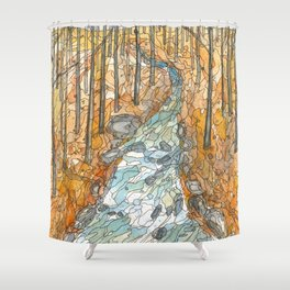 Eno River 39 Shower Curtain