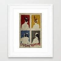 bioshock Framed Art Prints featuring Bioshock - Citizens of Rapture by Art of Peach