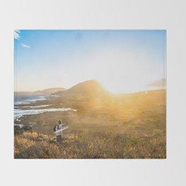 Hawaii Sunset at Makapu'u Lighthouse Throw Blanket