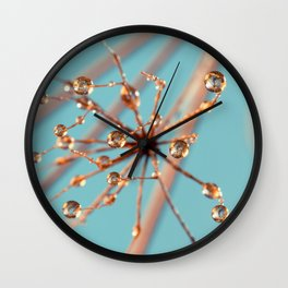 Queen Anne's Lace in Blue Wall Clock