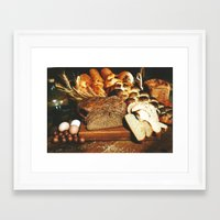 food Framed Art Prints featuring Food by Kathrin Legg