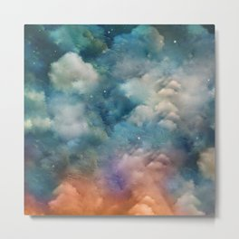 """Only in heaven, a sea of clouds"" Metal Print"