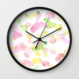180527 Abstract Watercolour 8   Watercolor Brush Strokes Wall Clock