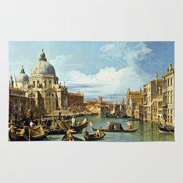Canaletto Bernardo Bellotto  -  The Entrance To The Grand Canal  Venice Rug