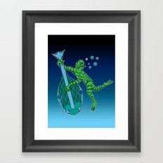 Dark Tunes From Black Lagoons Framed Art Print